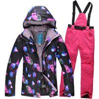 Wholesale New Fashion Multicolor Women Ski Suit Waterproof Windproof Snowboard Jacket Warm Ski Suit Female Breathable Ski Jackets