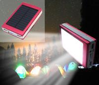 bank lamp wholesale - Solar Power bank Outdoor camping lights LED lamp lighting tent camp light solar charging treasure functional mobile power lighting