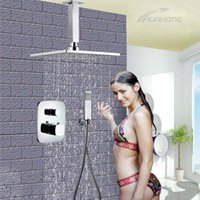 Wholesale 2016 Copper shower fashion shower faucet set Darked Installed Series thermostatic shower faucet