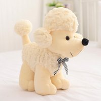 baby toy poodle - Piece Cute Poodle Dog Toys Cotton Plush Toys Stuffed Dolls Wedding Toys Gifts Presents for Baby Girls Colors Height cm