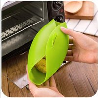 Wholesale Home Kitchen Microwave Oven Steamer Soft paste Silicone Folding Bowl Baking Fish Steam Roaster Bread Food Cook Tool