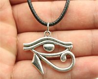 ancient egypt cleopatra - Ancient Egypt Series The Eye of Horus Anubis Cobra Pharaoh Hathor Tefnut Goodness Cleopatra pendant leather necklace