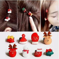 Wholesale Hair accessories snowman fawn children s small miniature Christmas tree hairpin hair catch small hairpin bang clip