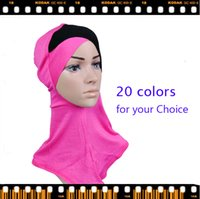 Wholesale Splice Scarf full cover headscarf Muslim Hijab Voile Cotton Mix Color New Arrival