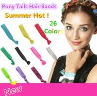 american pony - 100 Colors Option New Knotted Ribbon Hair Tie Ponytail Holders Stretchy Elastic Headbands Kids Women Hair Accessory