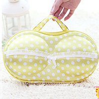 Wholesale The pressure to finalize the design the bra bag Portable travel bra receive case underwear receive package EVA receive case