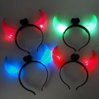 Wholesale Baby Kids Hairband Emitting Horn Hair Accessories Children luminous Horn Toy TY1975
