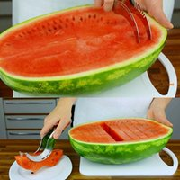 Wholesale Watermelon Slicer and Corer Stainless Steel Fruit Peeler Faster Melon Cutter New Design Fruit Tools