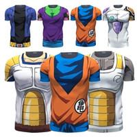 anime tshirts - PrettyBaby Newest Style Dragon Ball Z Goku D t shirt Funny Anime Super Saiyan t shirts Women Men Harajuku tee shirts Casual tshirts tops