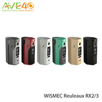 Wholesale Wismec Reuleaux RX23 RX2 RX2 for TWO Three cells Spring Loaded Thread have VW TC TCR Out Put Mode