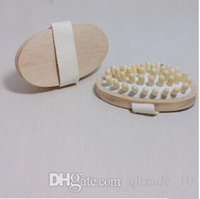 Wholesale 2000pcs CCA2016 High Quality AntiCellulite Remover New Hand Held Natural Wood Massager Body Brush Cellulite Reduction Slimming Massager