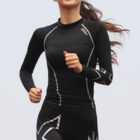 active outdoor clothing - 2XU Women s compression clothing long sleeve slim female sports straitest fitness Tshirt outdoor fast drying clothing C29