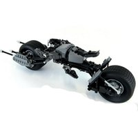 batman batmobile - 338pcs Super Heroes The Dark Knight Batman Batcycle Batmobile Bat Pod Building Blocks Kids Toys Children Gift Bricks Decool