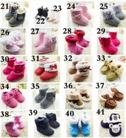 ball loop - 2016 winter tassel leopard princess Mickey bow plush ball casual warm boots Children casual wave point thick skull floral baby toddler boots