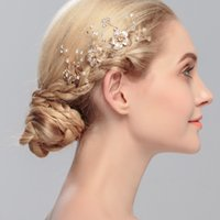 Wholesale 2016 New Pattern Europe And America Style Bride Headwear Rhinestone Pin Hair Comb Accessories Wedding Factory Direct Plant fan Jewelry