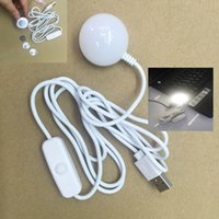 Wholesale New Arrivals W USB Magnet lamp energy saving DC5V USB LED Light Laptop Notebook Charger Light usb mini bulb with turn on off switch