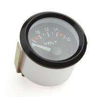 auto gauge racing meter - Universal Voltmeter Gauge Meter V Racing Car Inch Volt Gauge Volts Gauge Meter mm Auto Gauge Instrument CEC_541