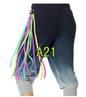 Wholesale woman man dance sports tassels HIP HOP DIY Banderole rainbow Ribbon Fashion Accessories