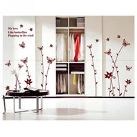 Cheap Removable Butterfly Shaped Wall Stickers for Decorating Model Tiny Art Wall Decals for Bedroom Home Decoration