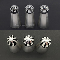 ball nozzle - New set Stainless Steel Ball Tips Russian Icing Piping Nozzles Tips Pastry Cupcake Decorating Tools
