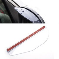 Wholesale Universal Flexible PVC Car Rain Eyebrow Mirror Rain Shade Rainproof Blades Car Back Mirror shield Rain Cover Accessories pair