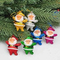 Wholesale 6Pcs Christmas Pendant Home Decoration Santa and Snowman Pendant Party Christmas Tree Gift