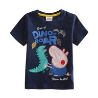 Wholesale Cartoon T shirt for Boys Kids Summer Wear Cute Pig Embroidery Short Sleeve Navy T shirt Children New Casual Tees C4032