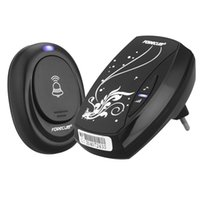 Wholesale Waterproof Black Doorbell EU Plug in V AC Digital LED Music M Range Wireless Remote Control Home Door Bell lt no tracking