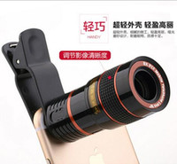 Wholesale New Hot Cellphone Camera x Zoom Telescope Telephoto Camera Lens Clear Poto For Samsung S6 Note iphone Plus Mobile Phone