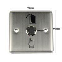 Door Switch access doors - 10pcs Metal Momentary Exit Release Button Switch V LED For Door Access Control F1659D