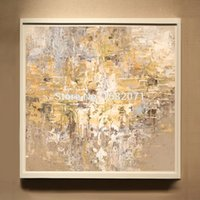 artist squares - High Skills Artist Hand painted Abstract Oil Painting On Canvas Handmade Abstract Yellow Oil Painting For Living Room Decoration