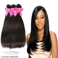 Wholesale Cheap Brazilian Virgin Hair Straight Human Hair Weave Natural Color Dyeable A Unprocessed Brazilian Straight Hair Extensions