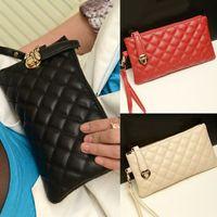 Wholesale 2016 Vintage Lady Soft Clutches Purse Leather Carteira Feminina Mini Zipper Long Wallet SV002310