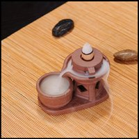 Wholesale Chinese gift ceramic incense burner with incense holder incense coil aromatherapy