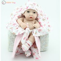 american educational toys - New Full body Silicone Reborn Baby Doll Toys cm American Lifelike Baby Girls Doll Play House toy Educational toy Reborn Doll