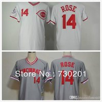 basball jersey - 2016 New with ems all over the world for Basball jersey Cincinnati Reds Pete Rose baseball Jersey on sale