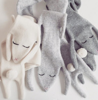 baby neckerchief bibs - 2016 Fashion Autumn Winter Lovely Bunny Cashmere Baby Scarf Cotton Bibs Rabbit Style Kids Boys Girls Neckerchief Scarves