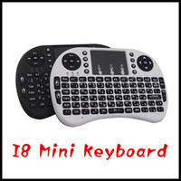 Wholesale 2016 Rii Mini I8 Air Mouse A21 G Multi Media Remote Control Touchpad Handheld Wireless Keyboard for Android TV BOX Tablet Mini