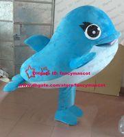 beautiful porpoises - Beautiful Blue Dolphin Porpoise Sea Hog Delphinids Whale Cetacean Mascot Costume Cartoon Character Mascotte Bright Eyes ZZ1382