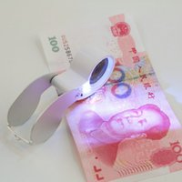 Wholesale 50pcs x mm Glass Magnifying Jeweler Magnifier Eye Jewelry Loupe Loop tz Lights Led Light