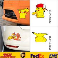 3D Sticker sticker light for car window - New Poke Pikachu Car Motorcycle Window D Wall Stickers Cartoon Figure Bedroom Nursery Kids Children Room Sticker Gifts HH S01