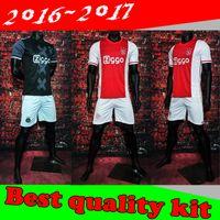 Wholesale Best quality Ajax kit Fischer Sinkgraven Milik Klaassen Younes Jersey White Black Home Away set Jerseys Shirt