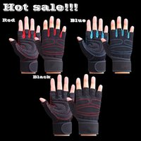 Wholesale Sports Fitness Body Buliding Training Gym Gloves Multifunction Men Women Sweat Absorption Resistance Weightlifting Gloves L16