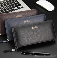 Cheap Wallets PU Leather Notecase Business Male Clutch Best Men Credit Card men's hand bag