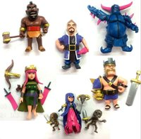 Wholesale New garage kit Clash of Clans Queen King Barbarian PVC Toy Action Figure Doll ornaments