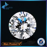 Wholesale 1000pcs AAAAA Grade White mm Cubic Zirconia Stone Round Cut Loose CZ Stone Synthetic Gems