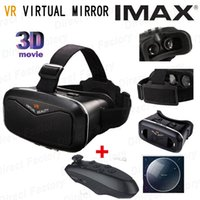 Wholesale VR virtual mirror Google carboard Virtual Reality D Glasses for phone vr box vr park oculos Bluetooth Wireless Mouse gamepad