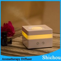 Wholesale New Ultrasonic Touch Essential Oil Diffuser LED Night Light Mist Fresh Air Spa Aromatherapy Aroma Humidifier