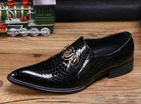 Wholesale Italian style business dress wedding shoes men s fashion ceremony pointed leather and recreational leather shoes