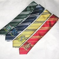 Wholesale HOT Harry Potter style house badge ties fancy dress Cosplay film peplica Book Day silk Necktie party VBCBU67